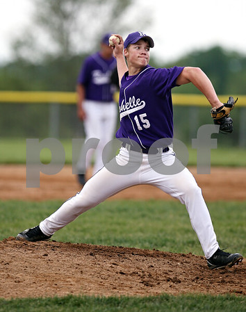 Beck Diefenbach  -  bdiefenbach@daily-chronicle.com<br /> <br /> Rochelle pitcher Shaine McCluskey (15) winds up during the fifth inning of the game against Kaneland at Burlington Central High School in Burlington, Ill., on Thursday May 28, 2009.