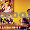 John Puterbaugh - jputerbaugh@daily-chronicle.com<br /> <br /> The first night of Las Posadas kicked off Wednesday night at Taxco Restaurant in Sycamore. Pictured is Los Peregrinos, a diorama of Joseph, Mary and baby Jesus, is passed from home to home each night leading into Christmas. Adults are pictured praying and singing together in the background.