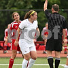 Beck Diefenbach  -  bdiefenbach@daily-chronicle.com<br /> <br /> A yellow card is issued to Cathum Glenwood's Sydney Alstott (left) after fouling Sycamore's Brianna Henke (center) during the second half of the Class 2A third place tournament game at North Central College in Naperville, Ill., on Saturday June 6, 2009. Sycamore lost 1 to 2, taking fourth place in the tournament.