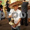 Beck Diefenbach  -  bdiefenbach@daily-chronicle.com<br /> <br /> Wyatt Romero, 8, rings a bell in celebration of Mexican Independence Day and Mexican Heritage Month at Taxco Restaurant in Sycamore, Ill., on Wednesday Sept. 17, 2009.