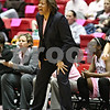 Beck Diefenbach – bdiefenbach@daily-chronicle.com<br /> <br /> Northern Illinois head coach Carol Owens calls out to her players during the first half of the game against Toledo at the Convocation Center in DeKalb, Ill., on Tuesday Feb. 24, 2009.