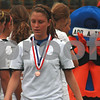 Randi Stella – rstella@daily-chronicle.com<br /> <br /> Sycamore's Karissa Miller receives her forth place medal during the 2A third place state tournament game at North Central College in Naperville, Ill., on Saturday, June 6th, 2009.