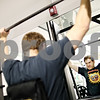 Beck Diefenbach – bdiefenbach@daily-chronicle.com<br /> <br /> John Jubeck, of DeKalb, lifts weights at the new Fitworkz health club in DeKalb, Ill., on Wednesday Feb. 25, 2009.