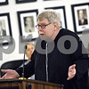 """Beck Diefenbach  -  bdiefenbach@daily-chronicle.com<br /> <br /> """"We did not choose our disability,""""  explained Peter Oglesbee, of DeKalb, during the open hearing portion of the city council meeting at the City Municipal building in deKalb, Ill., on Monday June 8, 2009."""