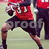 Beck Diefenbach  -  bdiefenbach@daily-chronicle.com<br /> <br /> Northern Illinois' Alex Kube (37) during practice at NIU's Huskie Stadium in DeKalb, Ill., on Tuesday March 24, 2009.