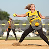 Beck Diefenbach  -  bdiefenbach@daily-chronicle.com<br /> <br /> Sycamore pitcher Jamie Breitweiser (10) winds up during the bottom of the fourth inning of the Class 3A Rochelle Sectional semi-final game against Burlington Central at Rochelle High School in Rochelle, Ill., on Wednesday June 3, 2009.