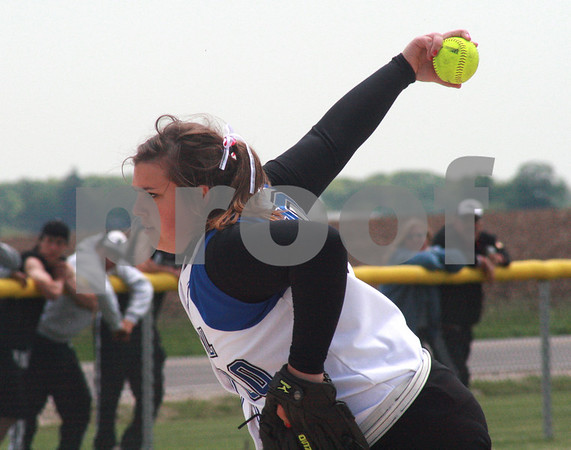 Randi Stella – rstella@daily-chronicle.com<br /> <br /> Mackenzie Scott (00) prepares to pitch during Kaneland against Burlington Central  varsity softball game that took place in Hampshire, May 30th, 2009.