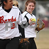 Beck Diefenbach  -  bdiefenbach@daily-chronicle.com<br /> <br /> DeKalb pitcher Lisa Oller was able to throw 5 innings until allowing a hit in the sixth inning during the first game in a double header against Elgin High School at DeKalb High School in DeKalb, Ill., on Monday March 23, 2009.