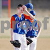 Beck Diefenbach  -  bdiefenbach@daily-chronicle.com<br /> <br /> Genoa Kingston's starting pitcher Cody Hoffman (4) waits to be replaced during the top of the fourth inning against Burlington Central at GK High School in Genoa, Ill., on Friday April 17, 2009.