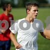 Rob Winner rwinner@daily-chronicle.com<br /> Bernie Conley of Hinckley - Big Rock during a recent soccer practice.<br /> 09/11/2009