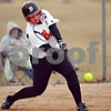 Beck Diefenbach  -  bdiefenbach@daily-chronicle.com<br /> <br /> DeKalb's Ali Ford swings and misses the ball during the bottom of the third inning of the first game in a double header against Elgin High School at DeKalb High School in DeKalb, Ill., on Monday March 23, 2009.