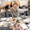 Beck Diefenbach  -  bdiefenbach@daily-chronicle.com<br /> <br /> Northern Illinois student Melissa Johnson searches for images in magazines that relate to the story she is planning to write as part of National Novel Writing Month in Davis Hall on the campus of NIU on Saturday Oct. 24, 2009.