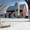 Beck Diefenbach  -  bdiefenbach@daily-chronicle.com<br /> <br /> Donna and Howard Petersen's land sports a mural of a horse on a grain silo in Sycamore, Ill., on Thursday Jan. 8, 2009.