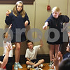 Beck Diefenbach  -  bdiefenbach@daily-chronicle.com<br /> <br /> Eight graders Jennifer Tull, left, and Brianna Hooker call on students during a quiz at St. Mary's lunchtime prayer group at St. Mary's Catholic school in Sycamore, Ill., on Friday May 22, 2009.