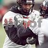 Beck Diefenbach  -  bdiefenbach@daily-chronicle.com<br /> <br /> Northern Illinois' Brian Lawson (96) during practice at NIU's Huskie Stadium in DeKalb, Ill., on Tuesday March 24, 2009.