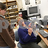 Beck Diefenbach  -  bdiefenbach@daily-chronicle.com<br /> <br /> Right,  Cindy Ditzler, director of the regional history center, and staffer Annie Oelschlager catalog Feb. 14th artifacts at the Northern Illinois University's Founder's Memorial Library in DeKalb, Ill., on Thursday Feb. 5, 2009.