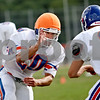 Beck Diefenbach  -  bdiefenbach@daily-chronicle.com<br /> <br /> Genoa-Kingston's Nick Lopez during practice at GK High school in Genoa, Ill., on Monday Aug. 17, 2009.