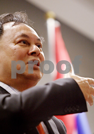 Beck Diefenbach  -  bdiefenbach@daily-chronicle.com<br /> <br /> Thailand foreign minister Kasit Piromya  speaks to students, faculty and staff on the campus of Northern Illinois University on Monday Sept. 28, 2009.