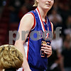 Beck Diefenbach – bdiefenbach@daily-chronicle.com<br /> <br /> Hinckley-Big Rock's Jenna Thorp receives her medal for defeating Winchester West Central in the Class 1A State Championship at the Redbird Arena in Normal, Ill., on Saturday Feb. 28, 2009.