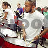 Beck Diefenbach  -  bdiefenbach@daily-chronicle.com<br /> <br /> Northern Illinois University student Kenneth Joseph plays with the steel band during a rehearsal in the NIU Music Building in DeKalb, Ill., on Tuesday March 17, 2009.