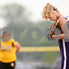 Beck Diefenbach  -  bdiefenbach@daily-chronicle.com<br /> <br /> Dixon pitcher Susie Hicks reacts after allowing another RBI during the bottom of the fourth inning of the game against Sycamore at Rochelle High School in Rochelle, Ill., on Tuesday May 26, 2009.