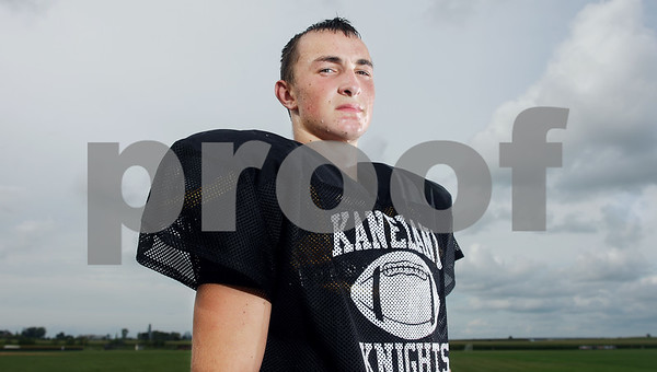 Rob Winner – rwinner@kcchronicle.com<br /> Curtis Secrest of the Kaneland football team<br /> 07/18/2009