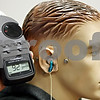 Rob Winner – rwinner@daily-chronicle.com<br /> <br /> Carissa Coons, a NIU doctoral student, has modified a mannequin which can measure the decibel level output of headphones when used with a electronic listening device such as a MP3 player. The mannequin, which has been nicknamed Weasley, resides at the NIU Speech-Language-Hearing Clinic.<br /> <br /> 10/08/2009