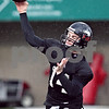Beck Diefenbach  -  bdiefenbach@daily-chronicle.com<br /> <br /> Northern Illinois' Brandon Rogers (14) during practice at NIU's Huskie Stadium in DeKalb, Ill., on Tuesday March 24, 2009.