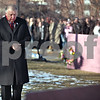 Beck Diefenbach  -  bdiefenbach@daily-chronicle.com<br /> <br /> Northern Illinois University President John Peters stands by the future memorial site outside Cole Hall on the campus of Northern Illinois University in DeKalb, Ill., on Saturday Feb. 14, 2009.