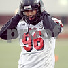 Beck Diefenbach  -  bdiefenbach@daily-chronicle.com<br /> <br /> Northern Illinois' Bryan Beckner (96) during practice at NIU's Huskie Stadium in DeKalb, Ill., on Tuesday March 24, 2009.