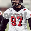 Beck Diefenbach  -  bdiefenbach@daily-chronicle.com<br /> <br /> Northern Illinois' Jack Marks (97) during practice at NIU's Huskie Stadium in DeKalb, Ill., on Tuesday March 24, 2009.