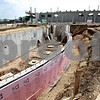 Beck Diefenbach  -  bdiefenbach@daily-chronicle.com<br /> <br /> Some portions of the new school are beginning to take shape, such as the orchestra pit of the new DeKalb High School on Dresser Road in DeKalb, Ill., on Tuesday Sept. 8. 2009.