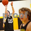 Beck Diefenbach – bdiefenbach@daily-chronicle.com<br /> <br /> Sycamore Shane Carnahan shoots free throws during practice at Sycamore High School in Sycamore, Ill., on Monday Feb. 23, 2009.