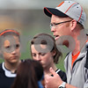 Beck Diefenbach  -  bdiefenbach@daily-chronicle.com<br /> <br /> DeKalb asst. coach Brent McIntosh talks with his team during half time of the game against Sycamore High School at Sycamore High School in Sycamore, Ill., on Thursday April 30, 2009. Sycamore beat DeKalb 4 to 0.