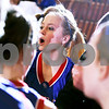 Beck Diefenbach  -  bdiefenbach@daily-chronicle.com<br /> <br /> Hinckley-Big Rock junior Maxzine Rossler (22) cheers with her team before the start of the game against Indian Creek at Indian Creek High School in Shabbona, Ill., on Thursday Jan. 29, 2009. HBR beat Indian Creek 61 to 41.