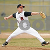 Beck Diefenbach  -  bdiefenbach@daily-chronicle.com<br /> <br /> DeKalb pitcher Jake Lemay (1) winds up during the top of the second inning of the game against Sandwich at DeKalb High School in DeKalb, Ill., on Wednesday March 24, 2010. DeKalb defeated Sandwich 7 to 1.