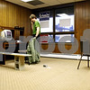 Rob Winner – rwinner@daily-chronicle.com<br /> <br /> Volunteer Jared de Seife, of DeKalb, makes a call to a voter from the Bill Foster campaign office in DeKalb, Ill. on Thursday October 7, 2010.