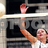 Beck Diefenbach – bdiefenbach@daily-chronicle.com<br /> <br /> Sycamore Jill Johnson (3) returns the ball during the first game against Kaneland at Kaneland High School in Maple Park, Ill., on Tuesday Sept. 21, 2010.