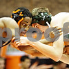 Rob Winner – rwinner@daily-chronicle.com<br /> <br /> DeKalb's Mitchell Todd goes up against Glenbard West's Collin Knowlton during the 140-pound quarterfinal match at the Don Flavin Tournament at DeKalb on Wednesday, Dec. 29, 2010.<br /> <br /> **Knowlton of GW won