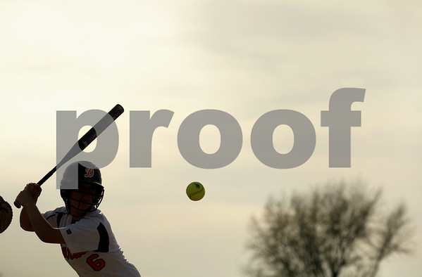 Beck Diefenbach  -  bdiefenbach@daily-chronicle.com<br /> <br /> DeKalb's Danielle Thibault (6) keeps her eyes on the ball during the second inning of the game against Kaneland at DeKalb High School in DeKalb, Ill., on Tuesday April 13, 2010.