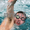 Kyle Bursaw – kbursaw@daily-chronicle.com<br /> <br /> Kaneland High School's Grant Alef takes a breath while practicing his freestyle stroke at the Kishwaukee YMCA Tuesday, Dec. 7, 2010.