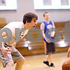 Beck Diefenbach  -  bdiefenbach@daily-chronicle.com<br /> <br /> Hinckley-Big Rock XXXX practices with the girls basketball team as they prepare for the state tournament during practice at H-BR in Hinckley, Ill., on Tuesday Feb. 23, 2010.