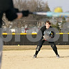 Beck Diefenbach  -  bdiefenbach@daily-chronicle.com<br /> <br /> Indian Creek sophomore Emily Bergstrand waits to pick up a ground ball during practice at Indian Creek High School in Shabbona, Ill., on Friday March 19, 2010.