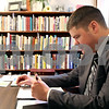 Rob Winner – rwinner@daily-chronicle.com<br /> <br /> Pastor Kevin Spears, who started Fellowship Baptist Church in DeKalb, Ill., takes down notes for an upcoming Sunday school lesson on Wednesday April 7, 2010.