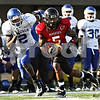 Rob Winner – rwinner@daily-chronicle.com<br /> <br /> Buffalo wide receiver Marcus Rivers (2) chases after Northern Illinois cornerback Chris Smith after Smith intercepted a pass attempt by Jerry Davis during the second quarter of their game in DeKalb, Ill. on Saturday October 16, 2010.