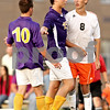 Beck Diefenbach - bdiefenbach@daily-chronicle.com<br /> <br /> Hononegah's Ryan Reid (15, center) separates Sean Macy (10, left) and DeKalb's Joe Ferguson (8) during the second half of the game at DeKalb High School in DeKalb, Ill., on Tuesday Aug. 24, 2010. DeKalb and Hononegah tied 1 to 1.