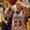 Rob Winner – rwinner@daily-chronicle.com<br /> <br /> Indian Creek's Sara Sanderson takes a shot during the second quarter in Shabbona, Ill. on Thursday December 2, 2010. Indian Creek went on to defeat Paw Paw, 39-15.