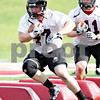 Beck Diefenbach - bdiefenbach@daily-chronicle.com<br /> <br /> Northern Illinois fullback Connor Flahive during the first practice at Huskie Stadium in DeKalb, Ill., on Thursday Aug. 5, 2010.