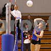 Rob Winner – rwinner@daily-chronicle.com<br /> <br /> Hinckley-Big Rock's Kaitlin Phillips goes up for a kill in the second game against Mooseheart in Hinckley, Ill. on Wednesday October 27, 2010. Hinckley-Big Rock defeated Mooseheart, 25-11 and 25-14.