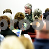 Rob Winner – rwinner@daily-chronicle.com<br /> <br /> At the DeKalb County Health Department, Dan Kenney, of DeKalb, testifies during Monday morning's appeal to the county to stop expansion of the landfill on Somonauk Road in Cortland Township.
